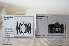 ROLLEIFLEX SL 35 MODE D'EMPLOI INSTRUCTION MANUAL