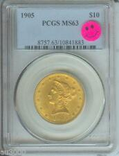 1905 $10 Liberty Eagle Pcgs Ms63 Gold Coin Ms-63 Pq +
