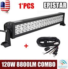 22inch 120W LED Work Light Bar Flood Spot Combo Driving Light Driving W/ Hanress