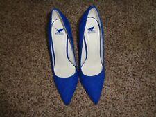 Shiekh Blue Micro Suede Stilettos Size 8 (4314)