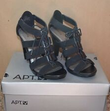 """APT 9 Black open Shoes with Straps / Size 7 M / 4"""" HEELS - REALLY CUTE"""