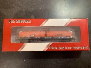 HO scale red caboose weathered Gary railway ex EJ&E coil car roadnumber 7041