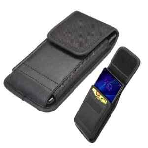 Belt Case for Motorola Moto E5 Cover with Card Holder Design in Leather and N...
