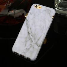 Slim Retro Granite Marble Pattern Soft TPU Phone Case Cover For iPhone 5 8 7Plus