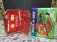 Vintage MIB 1960s Unused Mend & Sew Purse Travel Sewing Kit