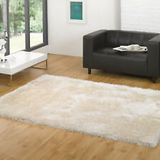 Santa Cruz Rug Deep Shag Thick Fluffy Round Rectange Flair Rugs Summertime - Ivory 120cm X 170cm