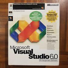 Microsoft Visual Studio 6 6.0 Enterprise Basic C++ J++ Foxpro SourceSafe