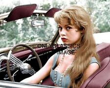 1956 YOUNG SEXY BRIGITTE BARDOT CONVERTIBLE CAR PHOTO CANNES FILM FESTIVAL PINUP