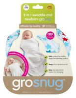 Grobag Grosnug Riviera Stars 2-in-1 Swaddle and Newborn Grobag 0-3 Months - Cosy
