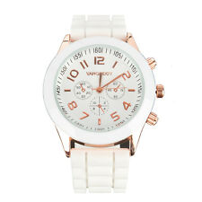 Rose Gold Women's Girls Electronic Wrist Stainless Steel & Silicone Watch