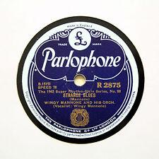 """Wingy MANONE ORCHESTRA """"strana BLUES"""" (e +) PARLOPHONE R-2875 78 RPM []"""