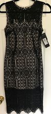 Marciano Masari Black Lace Pencil Dress Size 2 BRAND NEW WITH TAGS !!