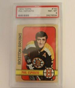 1972 Topps Phil Esposito Boston Bruins #150 PSA 8