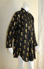 NWT vtg Bill Blass Seahorse Lagenlook Boxy Tunic Shirt Top Coverup Sz M L XL 1X