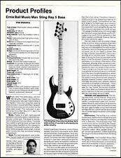 Ernie Ball Music Man Sting Ray 5-string bass guitar 8 x 11 sound check review