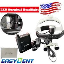 Dental Surgical Led Headlight 35x Loupe Helmet Magnifier Light Spot Adjust 1pc