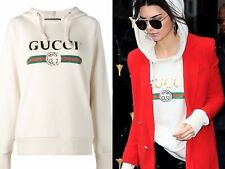 GUCCI Logo Sweatshirt HOODIE BLIND FOR LOVE PUPPIES DOGS Off WHITE S M Authentic