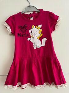 Girls one piece Marie dress 3-5 years kids Cat print dress party Dress Uk seller