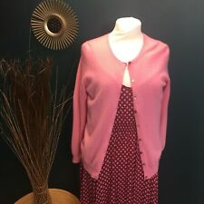 UK10 Cashmere ROSE PINK cardigan M&S