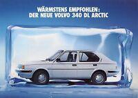 Volvo 340 DL Arctic Prospekt 10/86 Autoprospekt 1986 Broschüre Auto Pkw broschyr