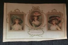 EARLY 1900'S SILK PRINTING / 3 VICTORIAN WOMEN / THE CHRISTMAS ROSES