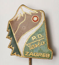 NIKOLA TESLA - CROATIA Mountaineering Club TESLA  Zagreb - enameled pin badge B1