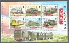 Jersey-Trains Railways mnh sheet from booklet