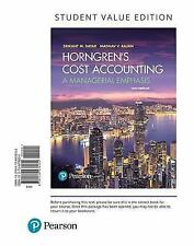 Horngren's Cost Accounting A Managerial Emphasis 16th US edition 2017 loose-leaf