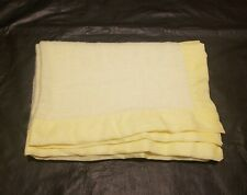 Blanket Baby Yellow Acrylic Matte Edge Woven Receiving No Brand Tag Vtg 47 X 36
