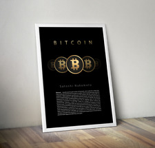 Bitcoin Poster - Classic Design 24in x 36in