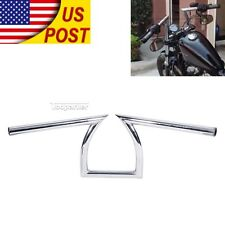 "Chrome Drag 1"" Z Bar Handlebar For Yamaha Virago 250 535 700 750 920 1000 1100"
