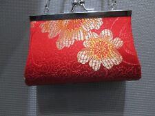 Oriental Girl's Purse / Handbag w/ Chain Red