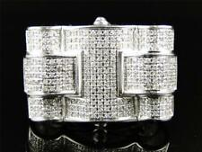 New Mens 10K White Gold Finish Diamond Xl Pinky Fashion Wedding Ring 4.00 Ct