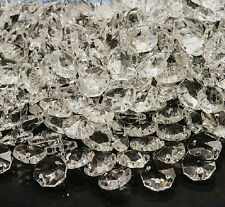 50pcs Clear Crystal Octagon Beads Glass Chandelier Prisms Lamp Hanging Parts #4