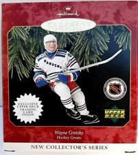 1997 Wayne Gretzky Hallmark Keepsake Ornament Upper Deck w/Trading Card