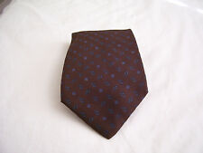 "Paco Rabbane Mens Necktie Tie 100% Silk Brown Blue Made in Italy 66""x3.5"""