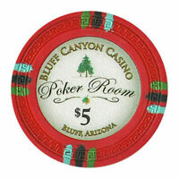 NEW 100 Red $5 Claysmith Bluff Canyon 13.5g Clay Poker Chips Buy 3 Get 1 Free