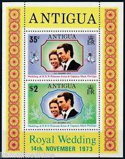 Antigua 1973 MNH SS, Royal Wedding Anne & Captain Mark Phillips (K2n)
