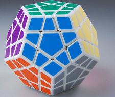 Shengshou Megaminx Magic Puzzle Speed Cube White Child Twist Toy Game Gift