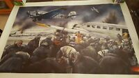 LAST FLIGHT FROM STALINGRAD WW2 POSTER PRINT CANVAS 36X24 INCHES.