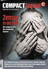 COMPACT Spezial Nr. 9 Zensur in der BRD (Sonderheft)