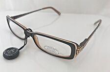 Jimmy Crystal JCR148 Cosmo Brown Swarovski Reading Glasses, +2.00