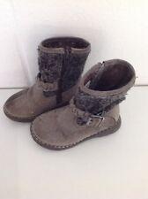 Girls Grey Suede Zip Boots, Next, Size 6