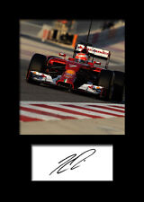 KIMI RAIKKONEN #3 Signed Photo Print A5 Mounted Photo Print - FREE DELIVERY