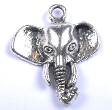 Free Ship 10Pcs Tibetan silver Elephant head charms pendants 25Mm Jk0915