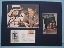"Faye Dunaway & Warren Beatty in ""Bonnie and Clyde"" signed by Estelle Parsons"