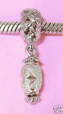 SOLID 925 Sterling Silver * STARDUST Charm BEAD Fits Bracelet / Necklace