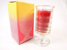 Vintage Avon Sherbet Dessert Strawberry Candle in a glass Nwb