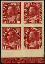 Canada   1924  Unitrade # 138   MNH LR Block of 4 with Lathework VF/XF