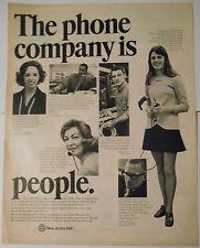 1970 vintage AD Phone Co NEW JERSEY BELL Skip Fisher, Uly Keener, Karen Woerner
